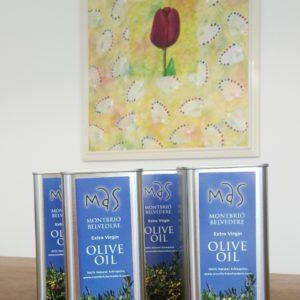AOVE/EVOO Aceite De Oliva Virgen Extra 4 Tin Cans A 500ml
